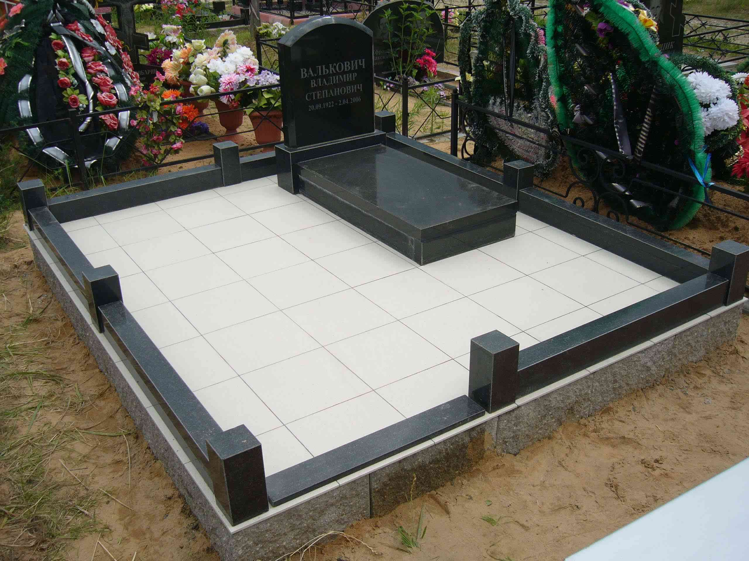 Плитка на могиле своими руками 59